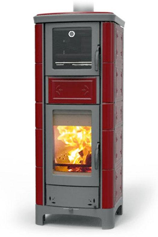 Ardhea maiolica con forno riscaldamento a legna for Termostufe a legna con forno